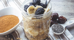 Cinnamon Sweet Overnight Oats (Dairy-Free, Vegan, No Sugar Added)